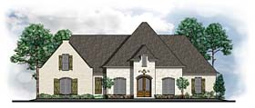 House Plan 41595 | Country European Southern Traditional Style Plan with 3480 Sq Ft, 5 Bedrooms, 4 Bathrooms, 2 Car Garage Elevation