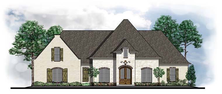 Country European Southern Traditional House Plan 41595 Elevation