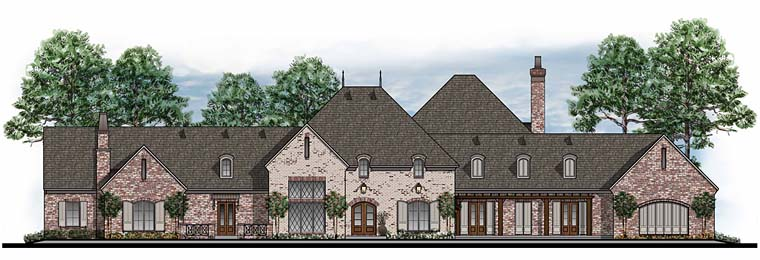 European French Country Southern Traditional House Plan 41598 Elevation