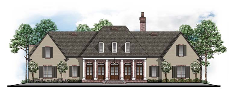 Colonial European Southern House Plan 41599 Elevation