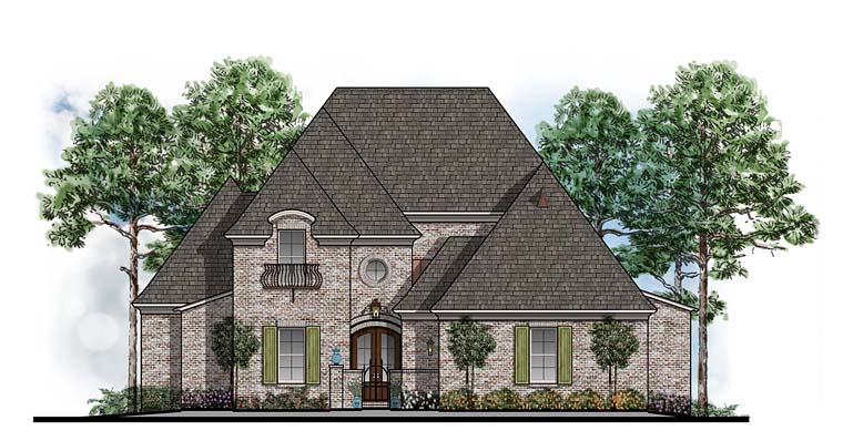 European Southern House Plan 41600 Elevation