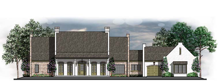 Country European Southern Traditional House Plan 41601 Elevation