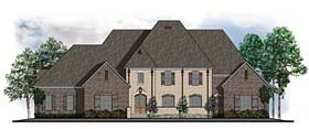 House Plan 41602   Colonial European Southern Style Plan with 4564 Sq Ft, 4 Bedrooms, 5 Bathrooms, 3 Car Garage Elevation