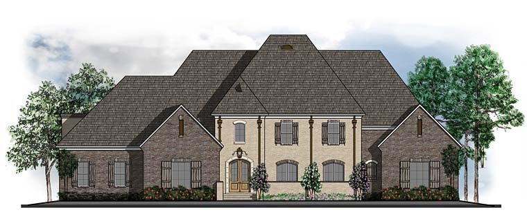 Colonial European Southern House Plan 41602 Elevation