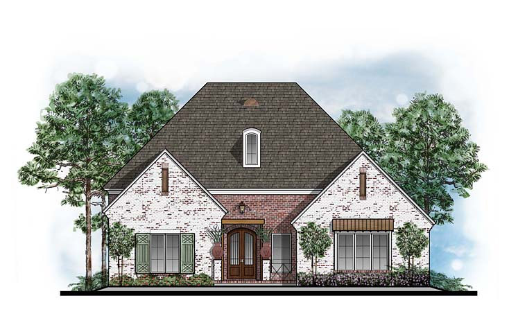 European Southern Traditional House Plan 41604 Elevation