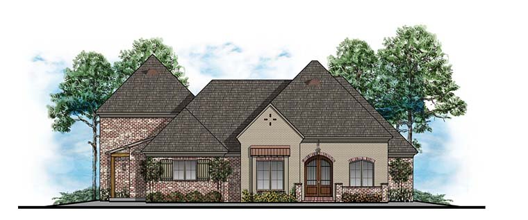 European Southern House Plan 41605 Elevation