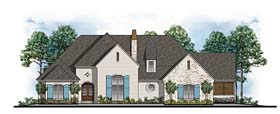 Country European Southern Traditional House Plan 41607 Elevation