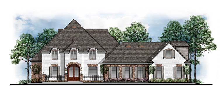 European French Country Southern House Plan 41608 Elevation