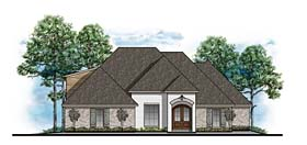 House Plan 41609   European Southern Traditional Style Plan with 2732 Sq Ft, 4 Bedrooms, 3 Bathrooms, 2 Car Garage Elevation