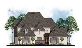 European Southern Traditional House Plan 41610 Elevation