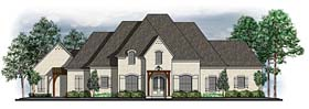 House Plan 41611 | European Southern Traditional Style Plan with 3957 Sq Ft, 4 Bedrooms, 5 Bathrooms, 3 Car Garage Elevation
