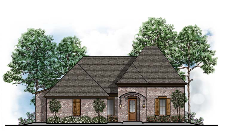 Cottage European French Country Southern House Plan 41612 Elevation