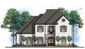 Colonial European Traditional House Plan 41614 Elevation