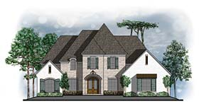 European Southern Traditional House Plan 41615 Elevation
