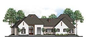 Country European Southern Traditional House Plan 41618 Elevation