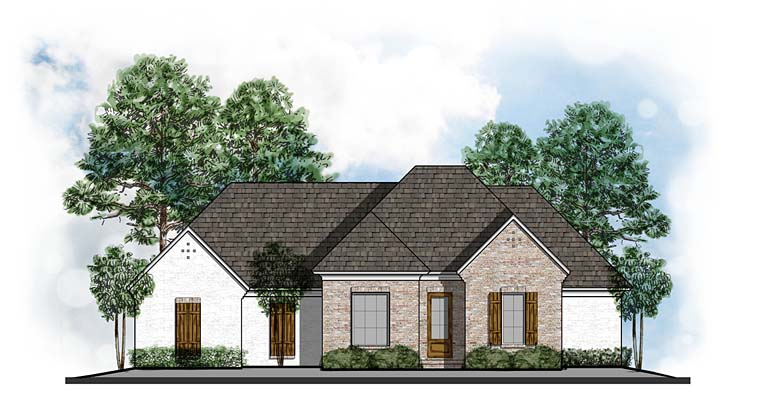 Country European Southwest Traditional House Plan 41619 Elevation