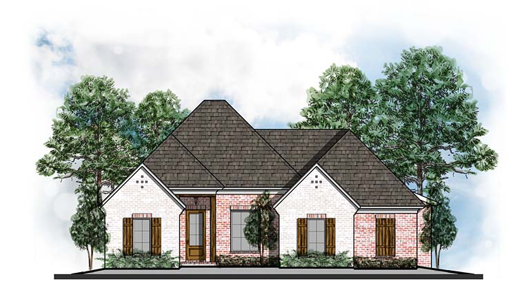 European Southern Traditional House Plan 41620 Elevation