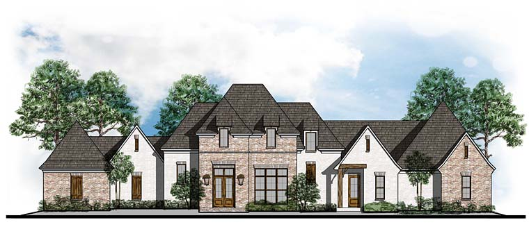 Colonial European Southern House Plan 41621 Elevation