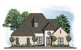 House Plan 41622 | European Southern Traditional Style Plan with 3485 Sq Ft, 4 Bedrooms, 4 Bathrooms, 3 Car Garage Elevation