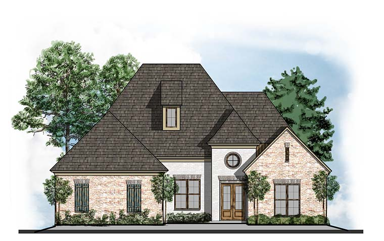 European Southern Traditional House Plan 41622 Elevation