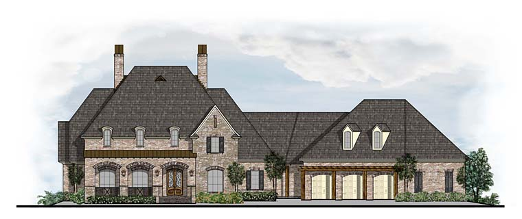 Colonial European French Country House Plan 41623 Elevation