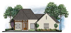 House Plan 41624 | Cottage Country European Southern Traditional Style Plan with 2495 Sq Ft, 4 Bedrooms, 3 Bathrooms, 3 Car Garage Elevation