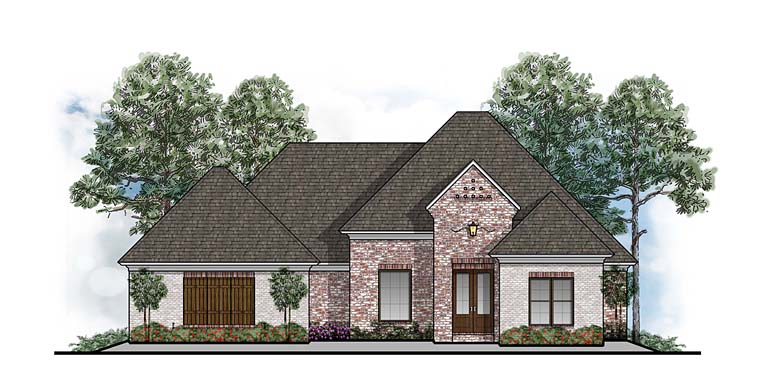 European Southern Traditional House Plan 41625 Elevation
