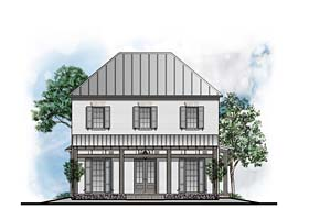 Colonial European Southern House Plan 41627 Elevation