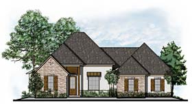 European Southern Traditional House Plan 41628 Elevation
