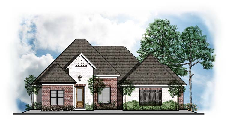 European Southern Traditional House Plan 41629 Elevation