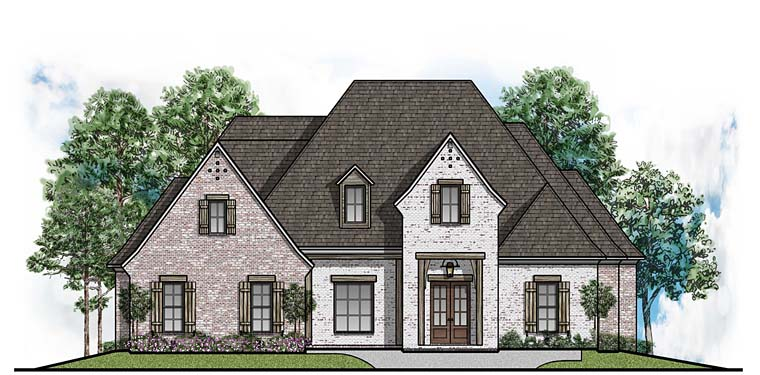 Country European Southern House Plan 41633 Elevation
