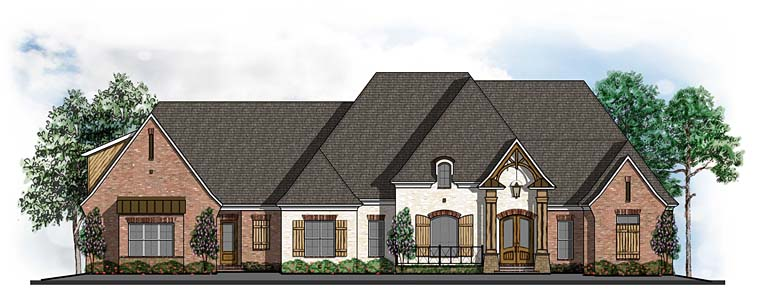 Craftsman, European, Traditional House Plan 41634 with 4 Beds, 5 Baths, 3 Car Garage Elevation