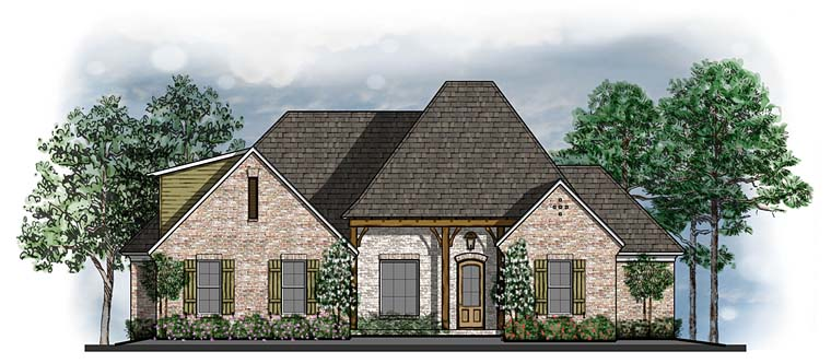 Country European Southern Traditional House Plan 41635 Elevation