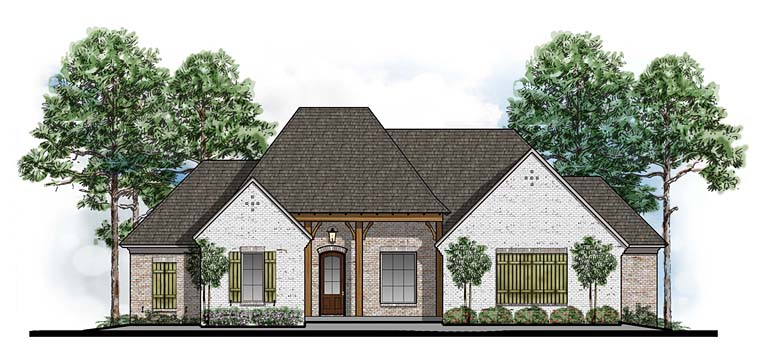 Country European Southern Traditional House Plan 41636 Elevation