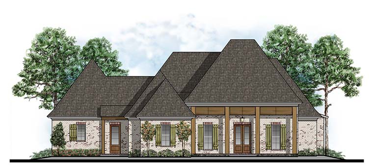 Country European Southern House Plan 41637 Elevation