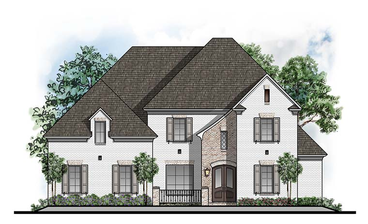 European Southern Traditional House Plan 41639 Elevation