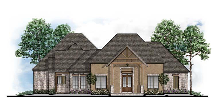 House Plan 41640 | Craftsman European Southern Style Plan with 2944 Sq Ft, 4 Bedrooms, 4 Bathrooms, 3 Car Garage Elevation