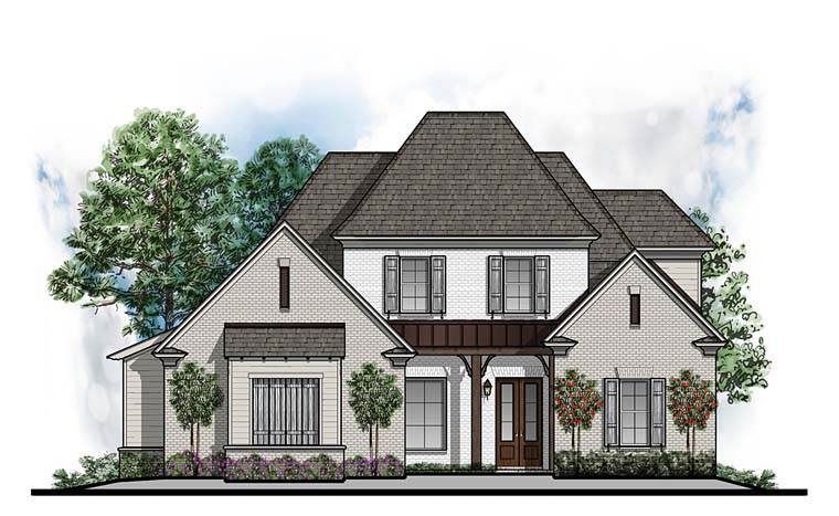 Cottage European Southern House Plan 41641 Elevation