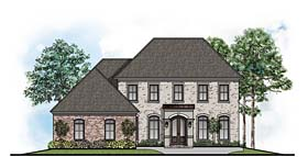 Traditional , Southern , European , Colonial House Plan 41642 with 4 Beds, 5 Baths, 3 Car Garage Elevation