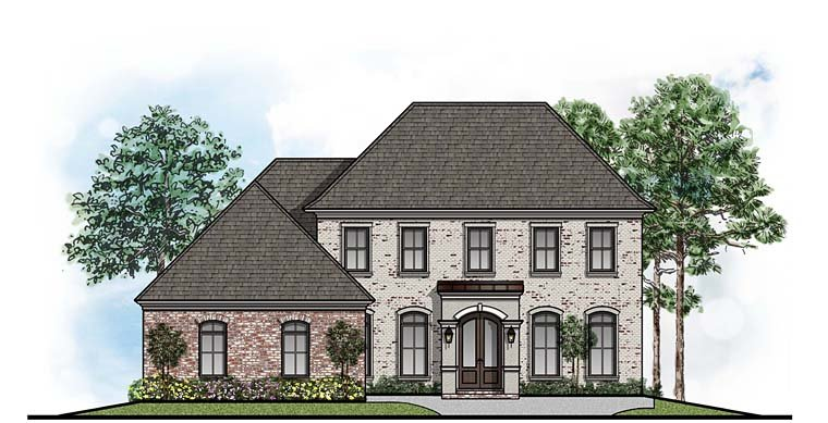 Colonial European Southern Traditional House Plan 41642 Elevation