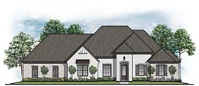 European House Plan 41643 Elevation