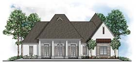 House Plan 41645 | European Southern Traditional Style Plan with 4187 Sq Ft, 5 Bedrooms, 6 Bathrooms, 3 Car Garage Elevation
