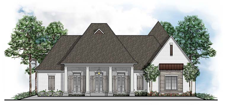 European Southern Traditional House Plan 41645 Elevation