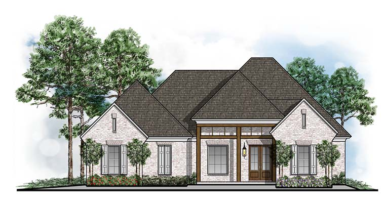 Southern Traditional House Plan 41646 Elevation
