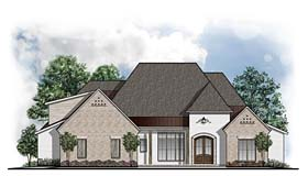 House Plan 41647 | European Southern Style Plan with 3740 Sq Ft, 4 Bedrooms, 5 Bathrooms, 3 Car Garage Elevation