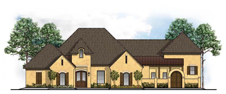 European, Mediterranean, Southern House Plan 41648 with 5 Beds, 5 Baths, 3 Car Garage Elevation