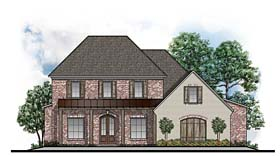 Colonial European Southern House Plan 41649 Elevation