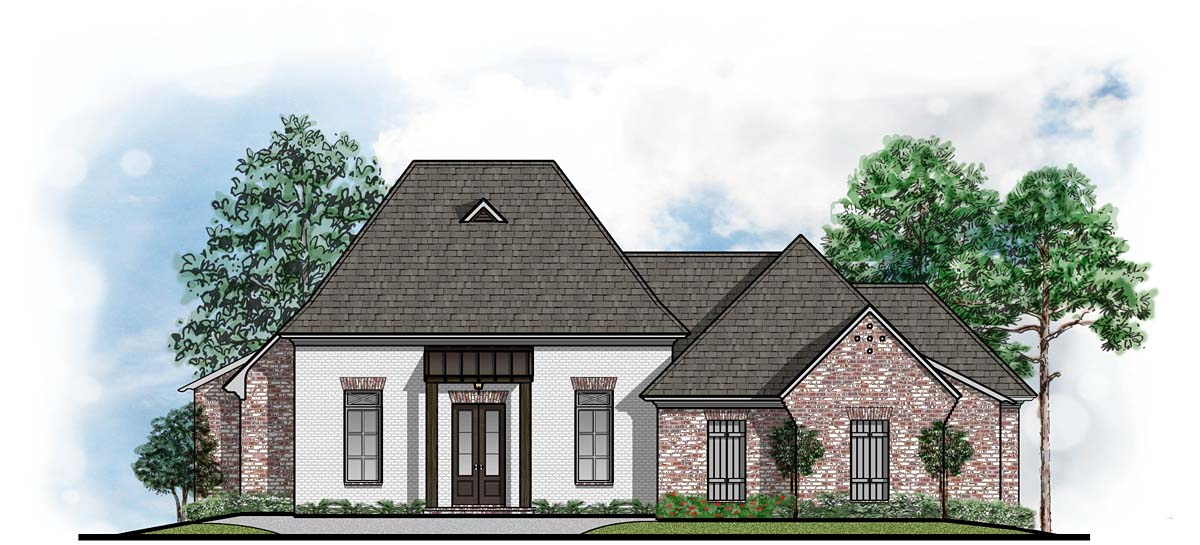 French Country Style House Plan Number 41650 with 4 Bed, 3 Bath, 3 Car  Garage