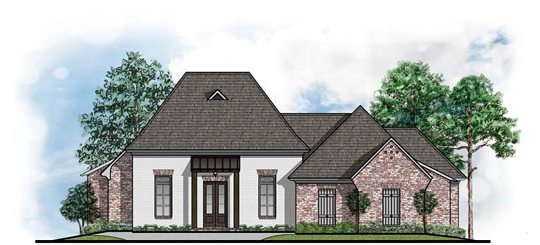 Colonial European French Country House Plan 41650 Elevation