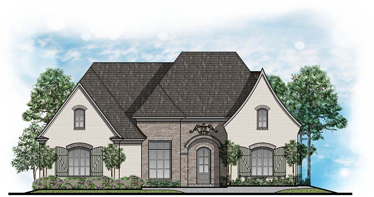 European Southern Traditional House Plan 41652 Elevation